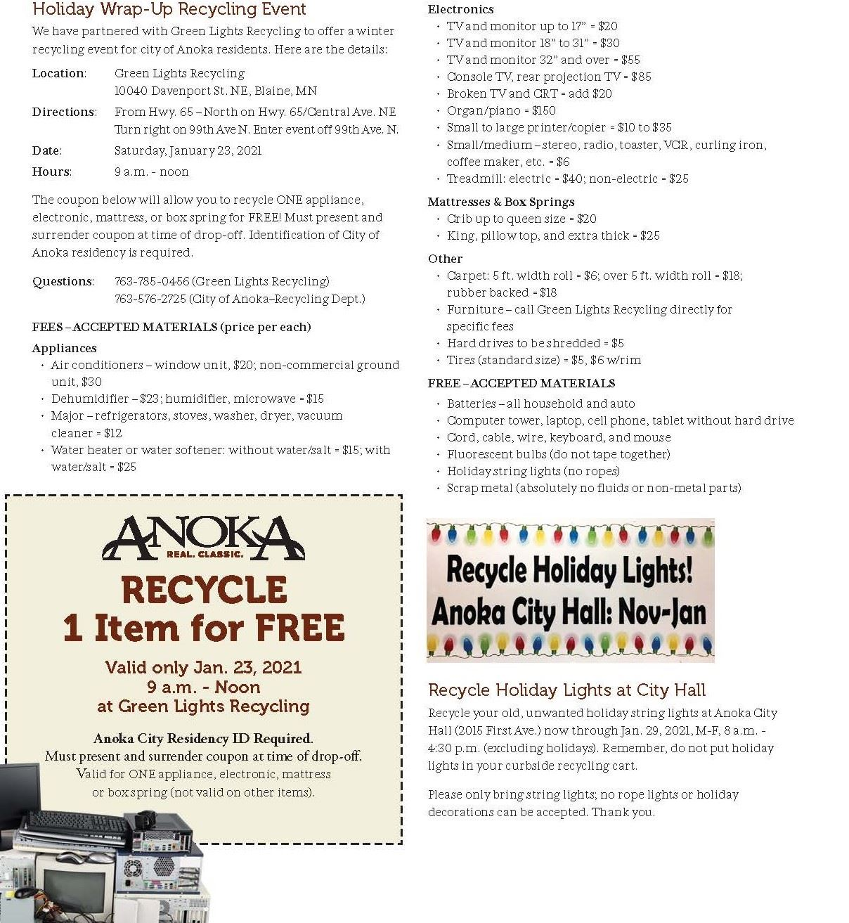 Holiday Wrap Up Recycling Event