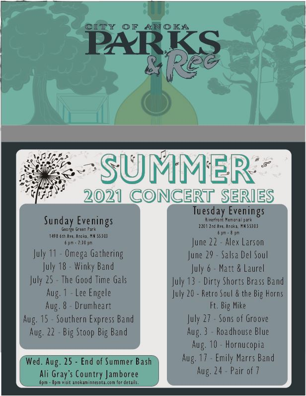 2021 Concert in the Park News Flash