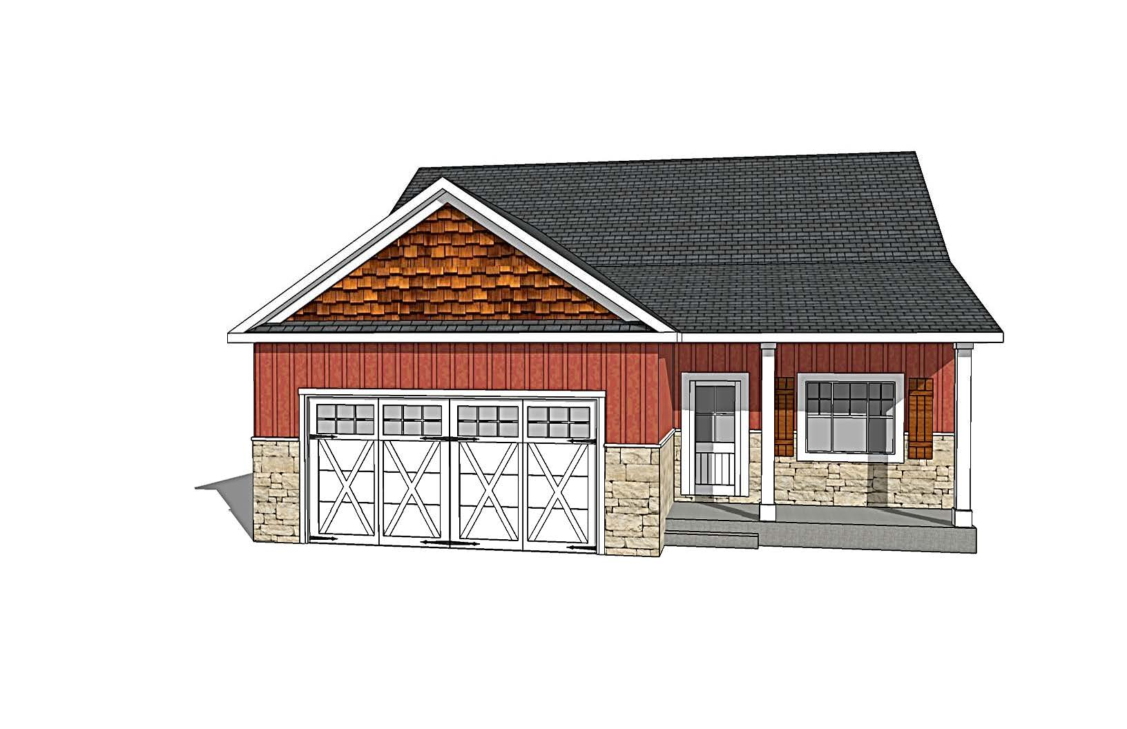 Farmhouse Style Rendering