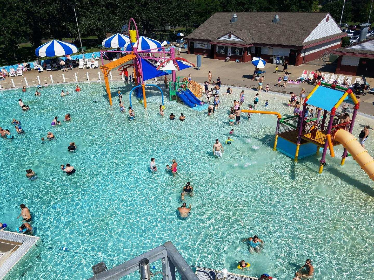 Birds Eye View Overlooking the Aquatic Center