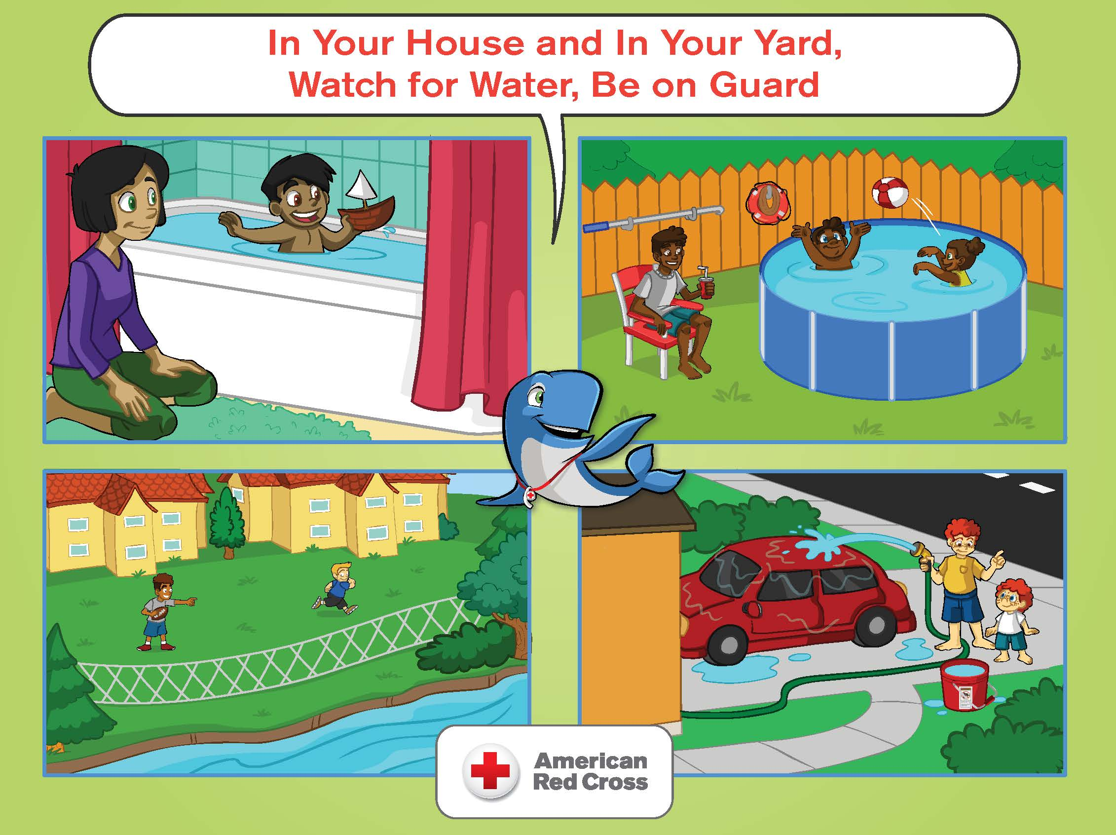 In Your House and In Your Yard, Watch for Water, Be on Guard Poster
