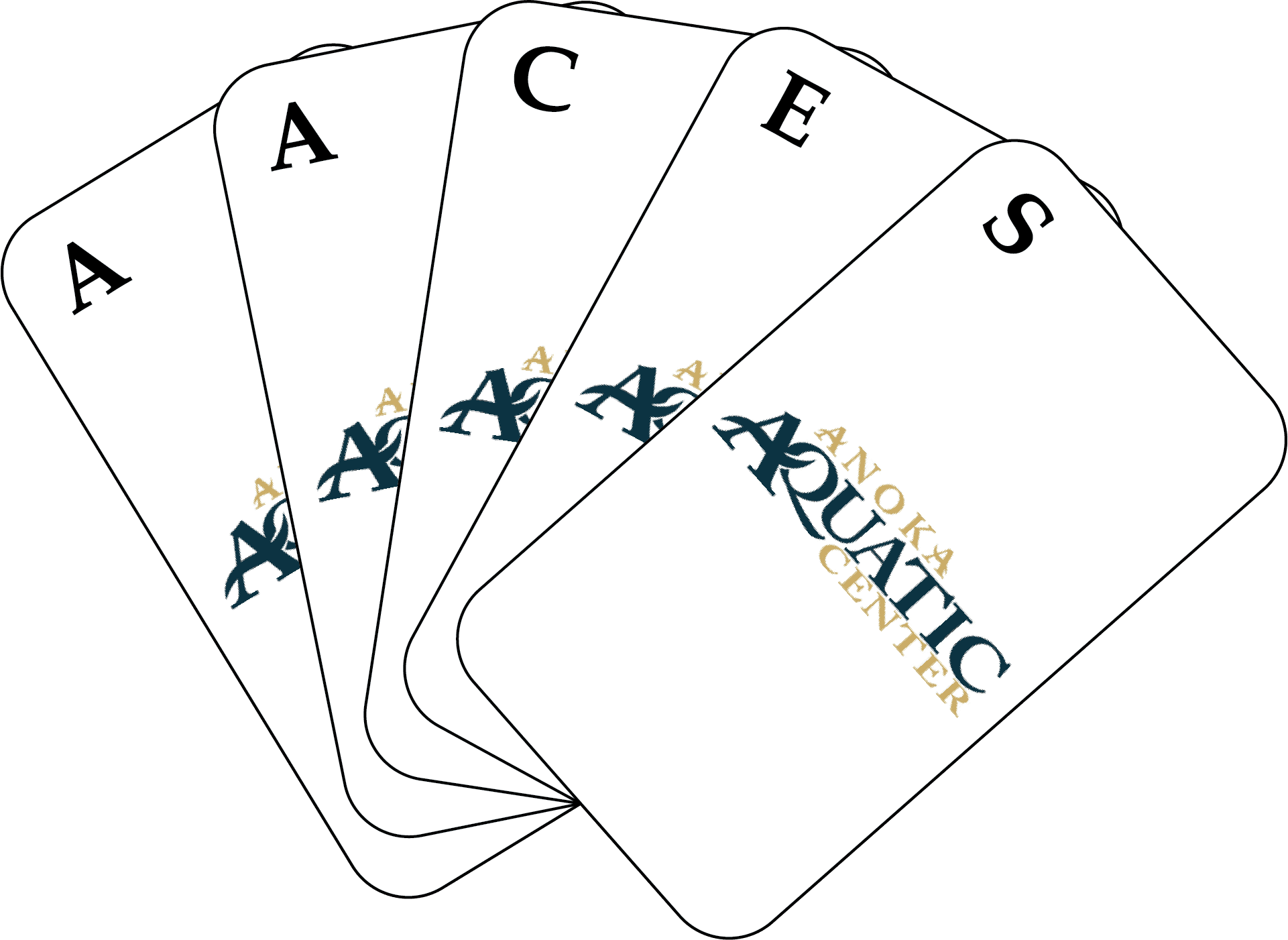Hand of Cards spelling out AACES